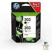 Cartouche d'encre HP N 303 Noire + 3couleurs