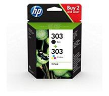 Cartouche d'encre HP  303 noire + 3 couleurs