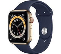 Montre connectée Apple Watch  44MM Acier Or/Bleu Series 6 Cellular