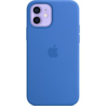 Apple iPhone 12/12 Pro Silicone bleu MagSafe