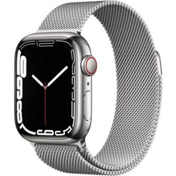 Apple Watch 41MM Acier Arg/Boucl Arg Mil Series 7 Ce