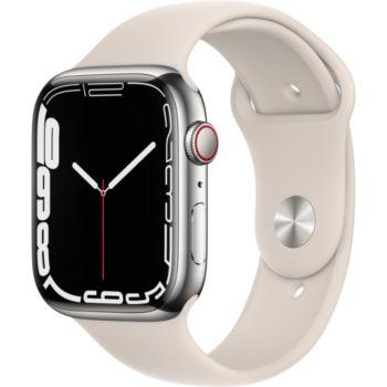 Apple Watch 45MM Acier Arg/Lum Stellaire Series 7 Ce