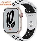Montre connectée Apple Watch Nike 45MM Alu Lum/Plat Noir Series 7 Cel