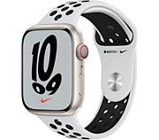 Apple Watch Nike 45MM Alu Lum/Plat Noir Series 7 Cel
