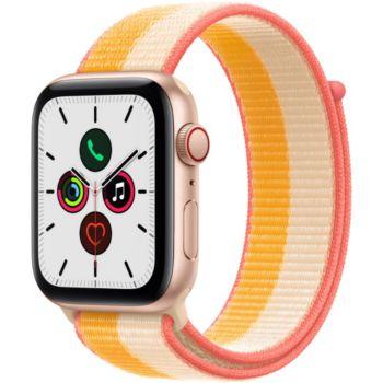 Apple Watch SE 44MM Alu Or/Mais Boucle Blanc Cellula