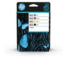 Cartouche d'encre HP  N 963 Noire + 3 couleurs