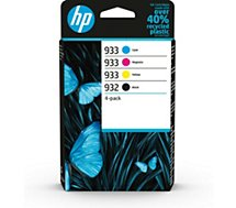 Pack HP  4 cart N 932 Noir-933 C/Y/M