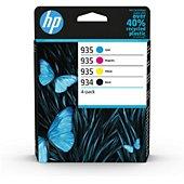 Cartouche d'encre HP 934 noire + 3 couleurs