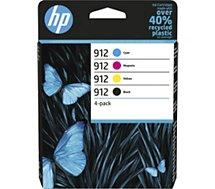 Cartouche d'encre HP  912 noire + 3 couleurs