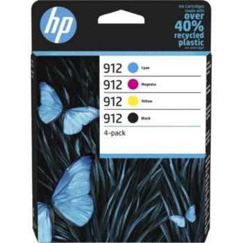 HP 912 noire + 3 couleurs