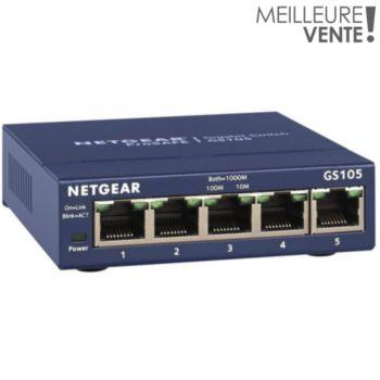Netgear GS105 Métal 5 Ports - Garantie à vie
