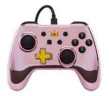 Manette Powera Manette Filaire Switch Peach Chrome
