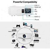 Vidéoprojecteur portable Projector-Led Projecteur Wireless HD Connecté Portable
