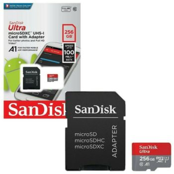 Sandisk Ultra Android microSDXC 256Go + Adapt SD