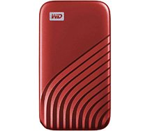 Disque SSD externe Western Digital  My Passport  500Go Rouge