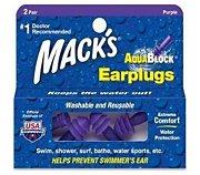 Mack's Bouchons d'Oreilles Waterproof Aqua Bloc