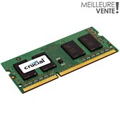 Mémoire vive SODIMM Crucial 4GB DDR3 1600 MT/s (PC3-12800)pcportable