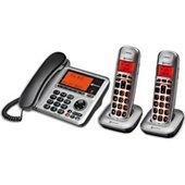 Téléphone filaire Amplicomms Téléphone filaire et 2 téléphone sans fi