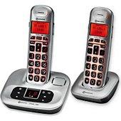 Téléphone sans fil Amplicomms Combo Téléphone sans fil avec répondeur