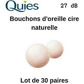 Bouchons anti-bruit Quies Boules Quies Earplugs-Natural Wax