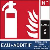 Accessoire pour alarme Wizelec Panneau PVC 3mm Extincteur classe AB - W
