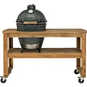 Chariot Big Green Egg acacia L 4 roues pour barbecue