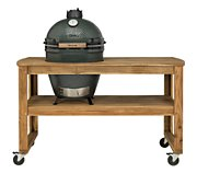 Big Green Egg acacia L 4 roues pour barbecue
