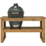 Chariot Big Green Egg  acacia XL 4 roues pour barbecue
