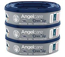 Recharge poubelle à couches Angelcare  de 3 recharges octogonales pour poubelle