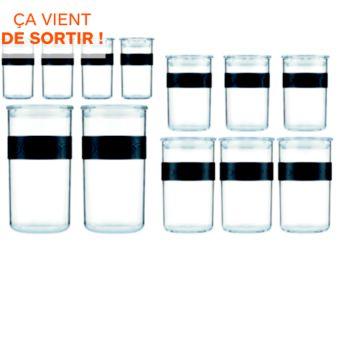 Bodum 12 bocaux de conservation en plastique