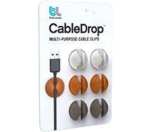 Range câble Bluelounge CableDrop couleurs douces Pack de 6