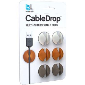 Bluelounge CableDrop couleurs douces Pack de 6