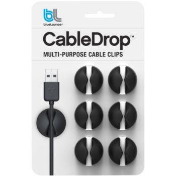 Bluelounge CableDrop noir Pack de 6