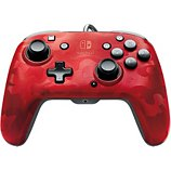Manette PDP  Manette Filaire Switch Camo Rouge