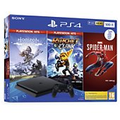 Console PS4 Sony PS4 500go Noire+Marvel's Spider+HZN+R&Z