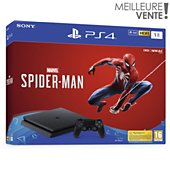 Console PS4 Sony Slim 1To Marvel's Spider-Man
