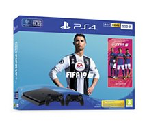 Console PS4 Sony Slim 500Go+FIFA19+2ème manette