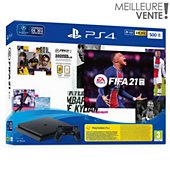 Console Sony PS4 500 Go+FIFA 21+Vch FUT+Vch PS+ 14 jr