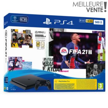Sony PS4 500 Go+FIFA 21+Vch FUT+Vch PS+ 14 jr