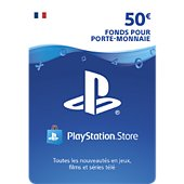 Accessoire Sony Carte 50 euros Playstation Network