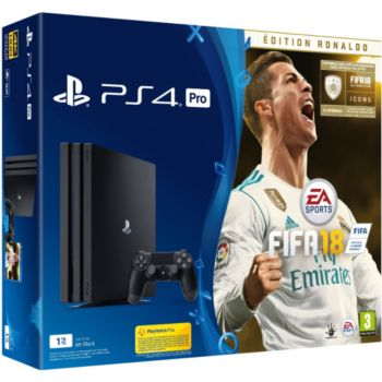 Sony Pro 1To + FIFA 18 Edition Deluxe     reconditionné