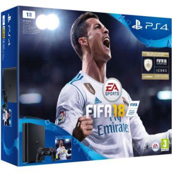 Sony Slim 1To + FIFA 18     reconditionné