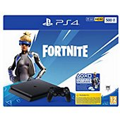 Console PS4 Sony PS4 Slim 500Go Noire + Code Fortnite