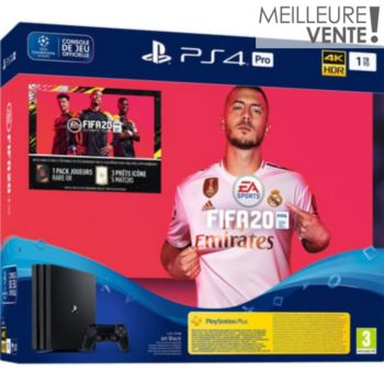 Sony Pro 1 To Noire Fifa 20 +Abo PS+ 14 jours