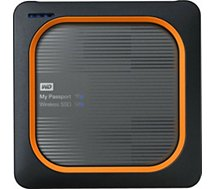 Disque SSD externe Western Digital  My passport Wireless 1To Gris
