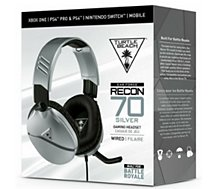 Casque gamer Turtle Beach  Recon 70 Silver