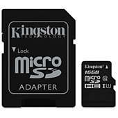 Carte Micro SD Kingston Canvas Select 16Go SDHC