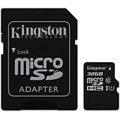 Carte Micro SD Kingston Canvas Select 32Go SDHC