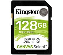 Carte SD Kingston  Canvas Select 128Go SDXC