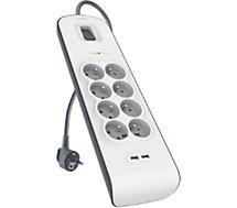 Adaptateur d'alimentation Belkin  8 prises parafoudres + 2 USB